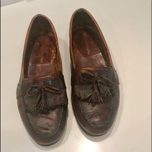 Johnson& Murphy Vintage Brown Tassel Loafers 11 M